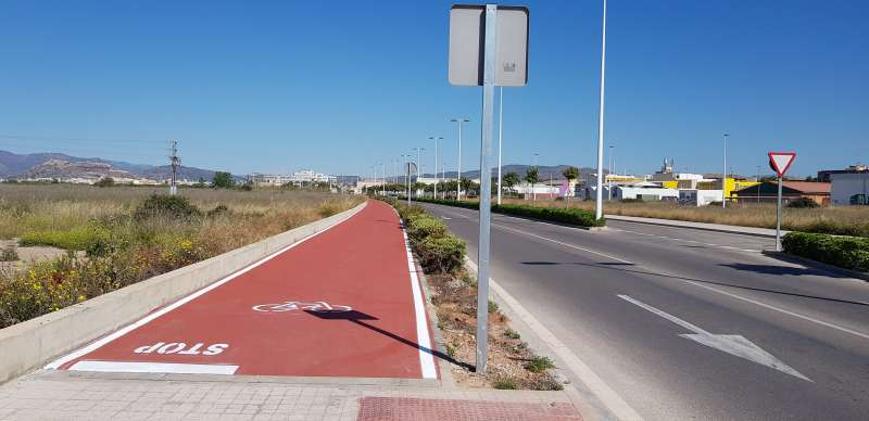 Carril bici en Port de Sagunt. EPDA