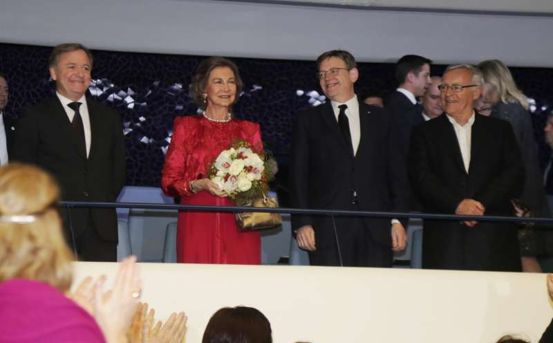 Moragues, la reina Sofia, Puig i Ribó. //EPDA