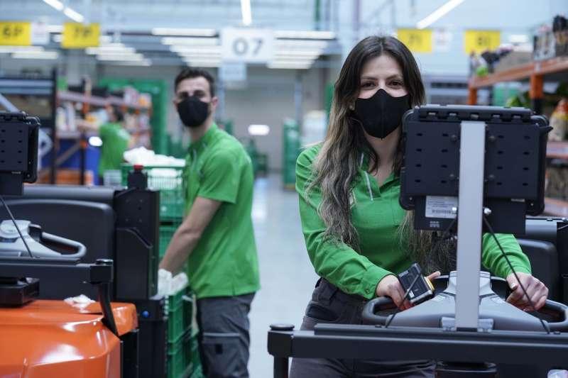 Trabjadores de Mercadona. EPDA