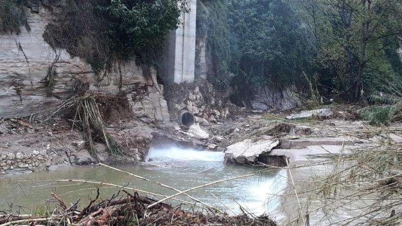Una imagen de los daños, facilitada por el Ayuntamiento. EFE