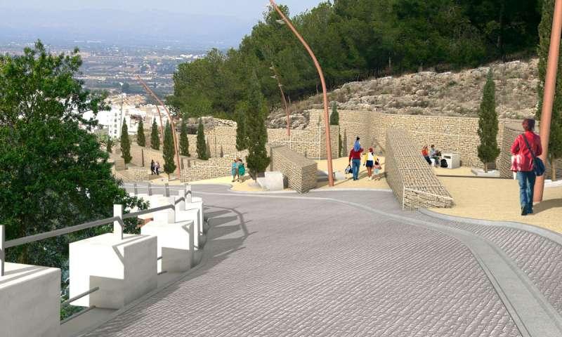 Proyecto de lo que será la subida de San Miguel. / EPDA
