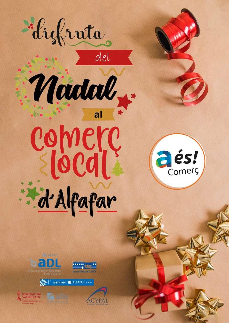 Cartel de la campaña de comercio local. EPDA
