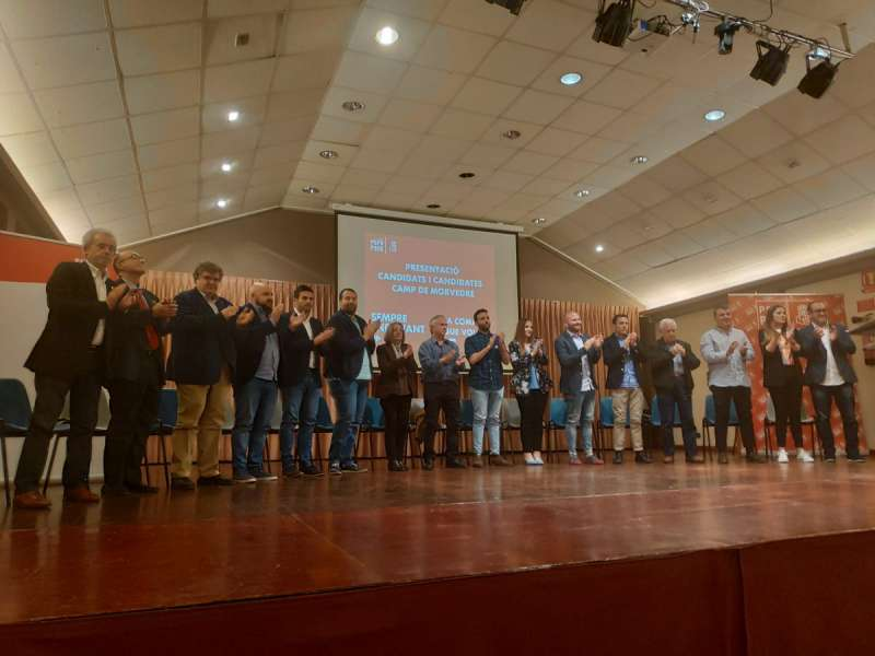 Los candidatos socialistas de la comarca del Camp de Morvedre. EPDA