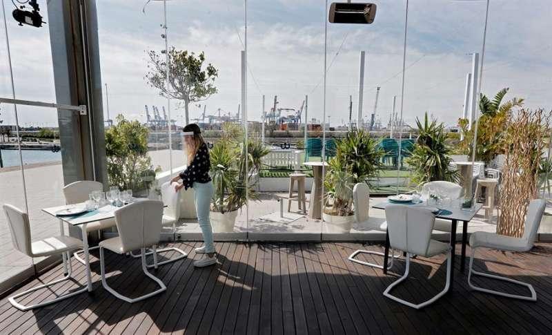 Imagen de archivo de un restaurante en La Marina de Valencia