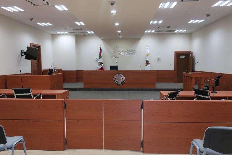 Vista general de la sala donde se llevó a cabo la primera audiencia, en agosto de este año, del juicio en contra de Jorge Fernández, esposo y presunto asesino de la valenciana Pilar Garrido, en Ciudad Victoria (México). EFE/Archivo