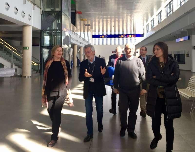 Visita de la consellera de Vivienda, Obras Públicas y Vertebración del Territorio al aeropuerto de Castelló. EPDA
