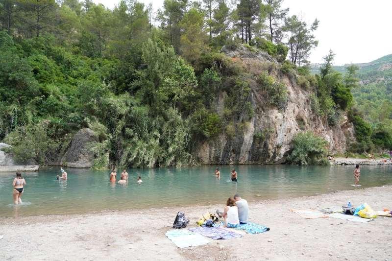 Playa fluvial en Montanejos