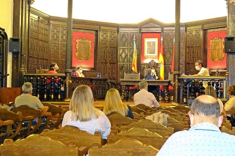 Vicente Hervás interviniendo en el pleno