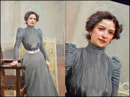Clotilde García del Castillo, retrato de su esposo, Joaquín.