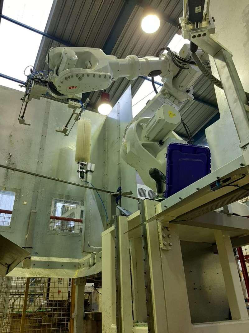 Robot en la planta de tratamiento
