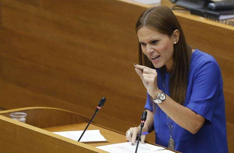 La portavoz de Educación del PP en Les Corts, Beatriz Gascó. EFE
