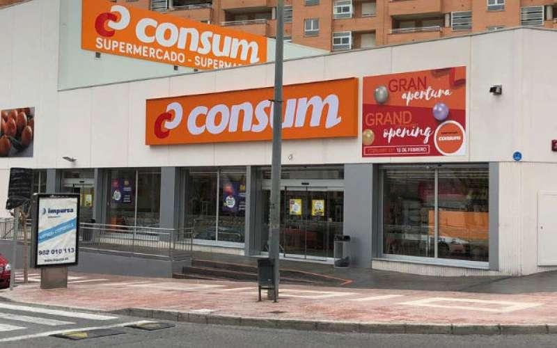 Supermercado Consum en Vila Joiosa, Alicante. EPDA