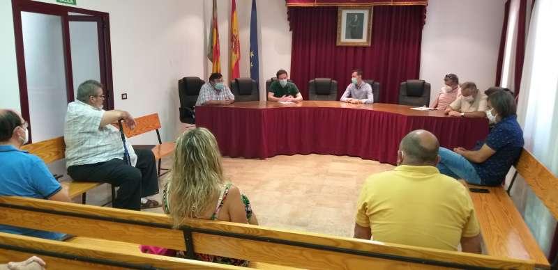 Reunión alcaldes con Ignasi García