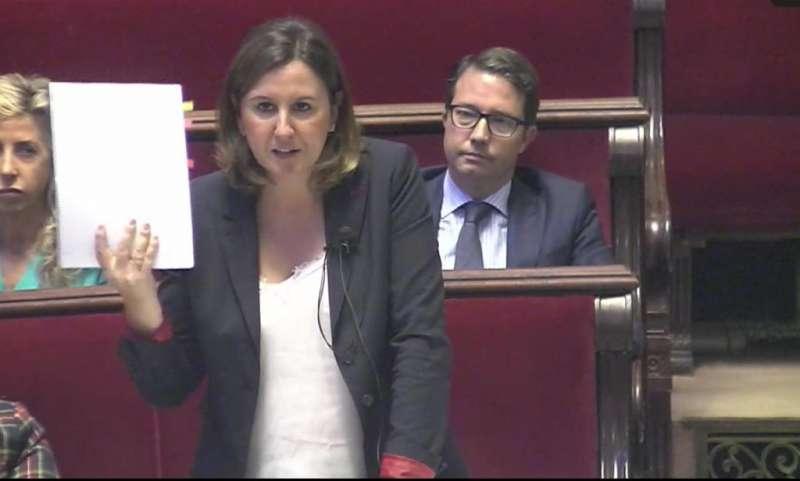 María José Catalá en el pleno. EPDA