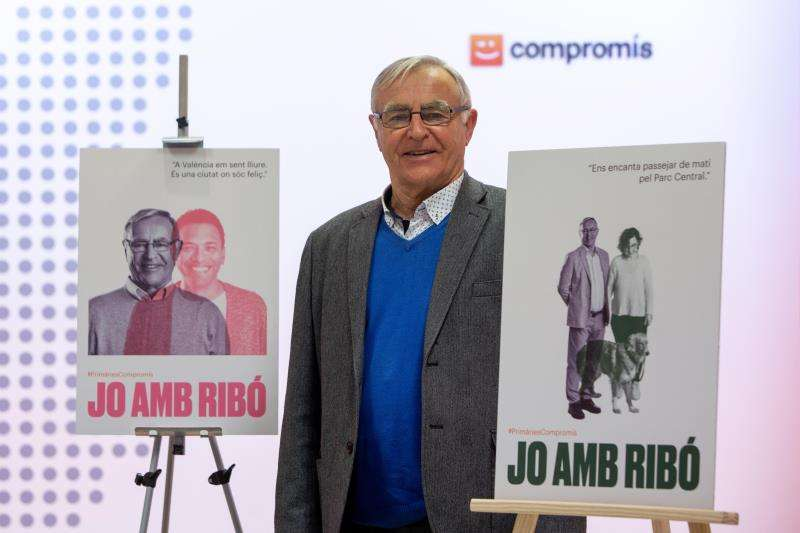 El alcalde de València y portavoz de Compromís per València, Joan Ribó, presenta la campaña de primarias a la alcaldía de València. EFE