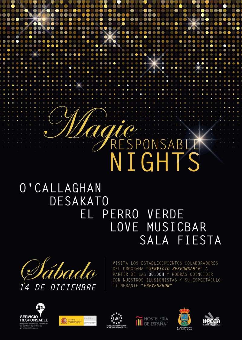 Cartel de las ?Magic Responsable Nights?. EPDA
