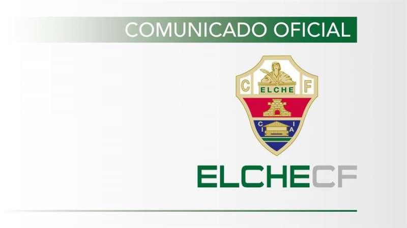 Anuncio del comunicado del Elche sobre la venta del club al empresario argentino.
