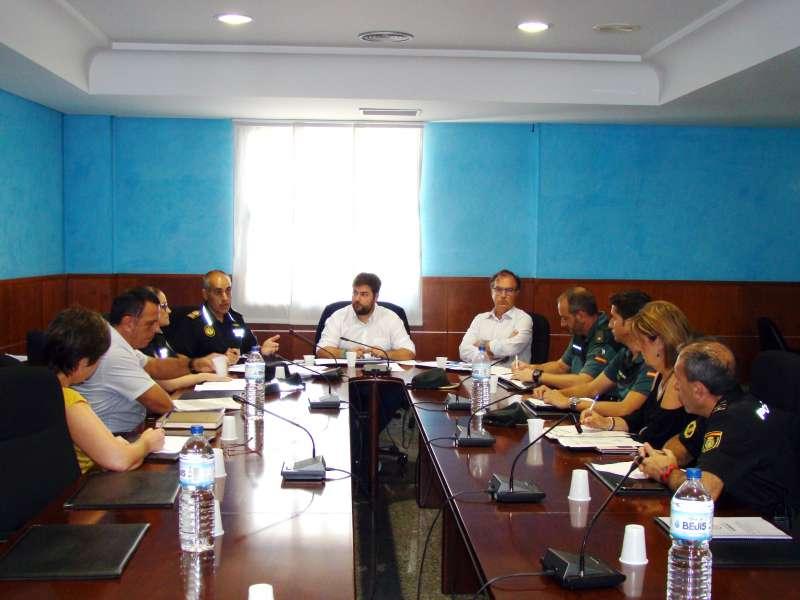 Reunió de la Junta de Seguretat a Rafelbunyol aquest dimecres.