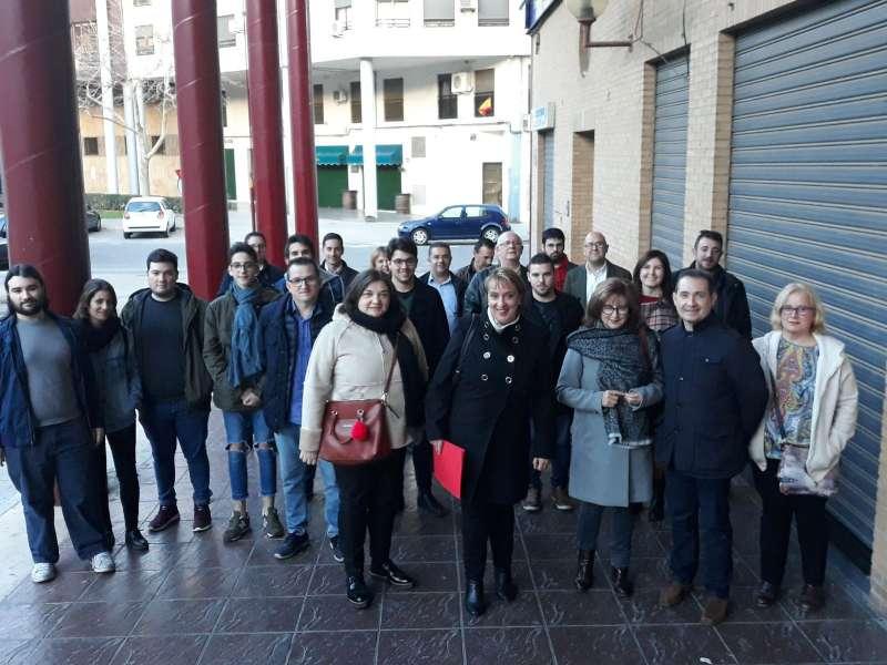 Eva Sanz, alcaldesa de Benetússer, presenta su candidatura en la sede del PSPV en Torrent. EPDA