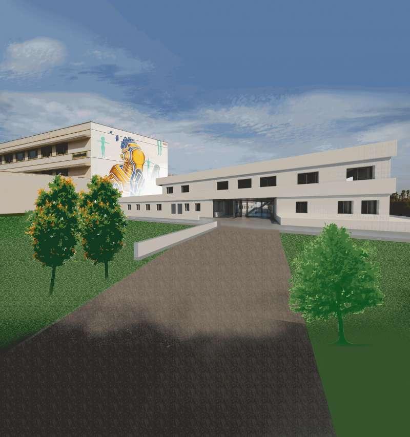 Imagen virtual del nuevo colegio