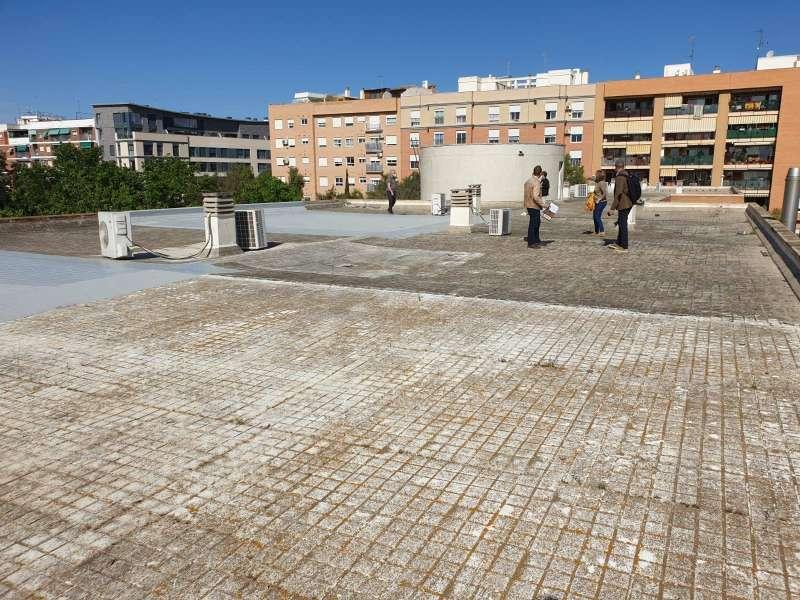 Techo del colegio Rei en Jaume de Foios.
