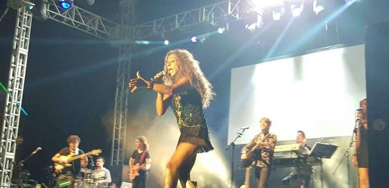 La cantante en el concierto. EPDA