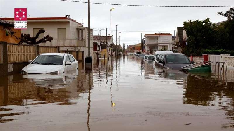 Imagen compartida por el Consorcio de Bomberos de Castellón de una de las zonas en las que ha intervenido, totalmente inundada.