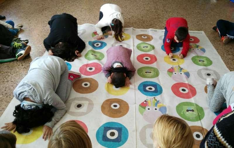 Una de las actividades en un colegio valenciano. FOTO EPDA