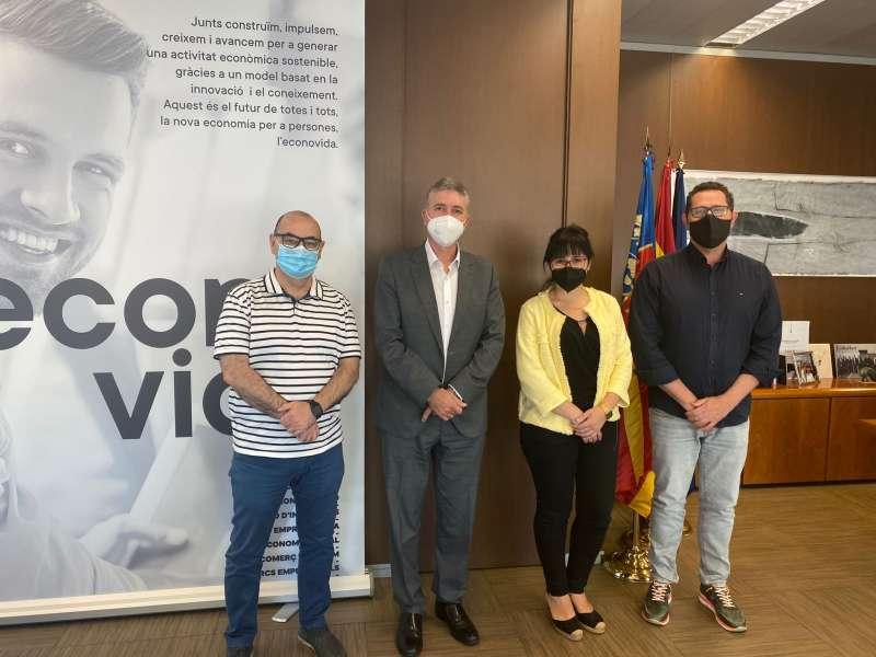 Reunión de Unió Gremial con el conseller de Economía de la Generalitat Valenciana. / EPDA