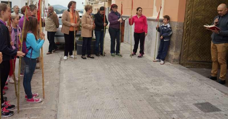 Participants a la romeria al Garbí. EPDA