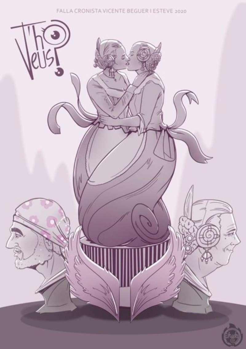 Boceto de Chuky para la Falla Cronista Vicent Beguer i Esteve de Torrent.