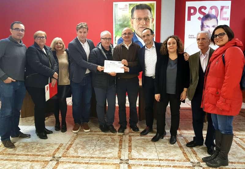 Andrés Campos presenta sus avales al PSPV como candidato en l
