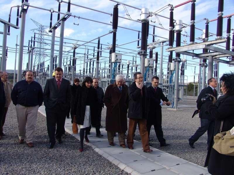 Enero de 2007, inauguración de la subestación eléctrica