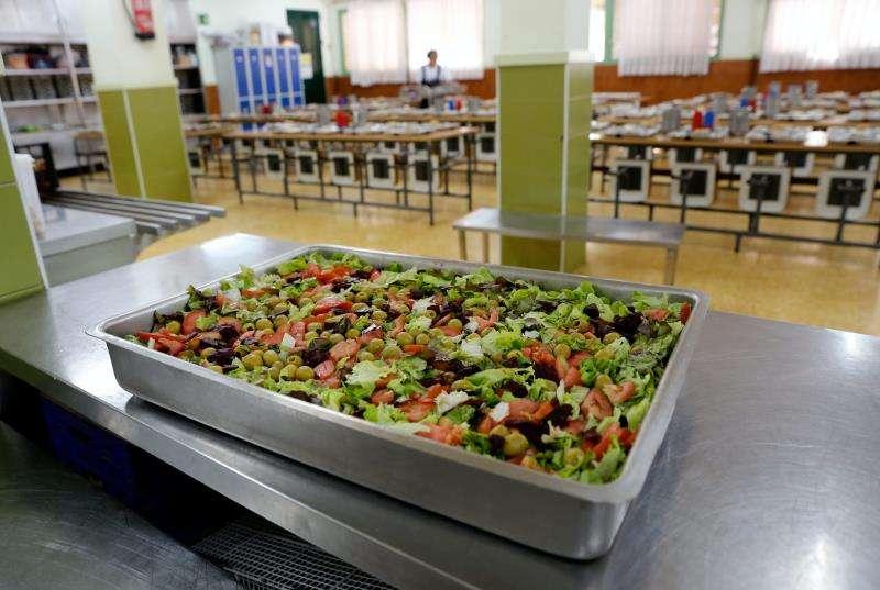 El comedor de un colegio público del barrio valenciano de Benimaclet. EFE/Arhivo