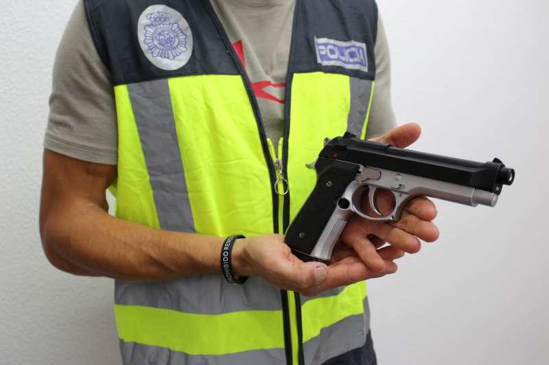 Pistola empleada en el atraco