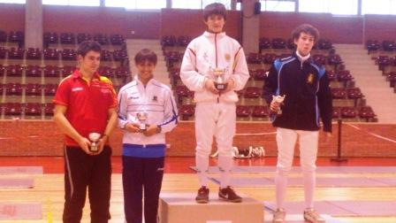 Carlos De Juan, bronce en esgrima en el Torneo nacional celebrado en Pamplona. Foto EPDA