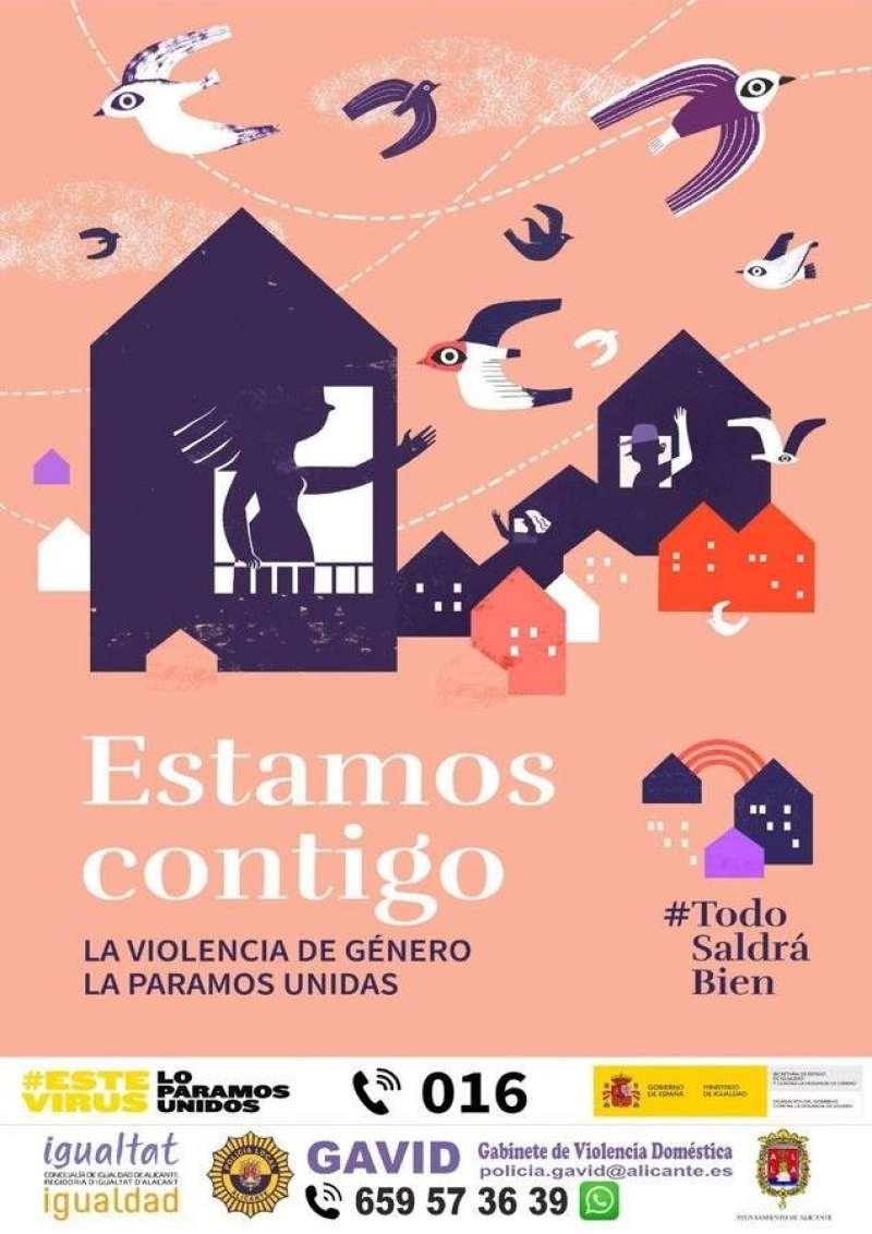 Campaña contra la violencia de género difundida por el Ayuntamiento en redes sociales.