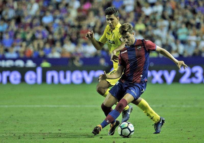 Imagen del Levante-Villarreal disputado en la campaña 2017-2018 en el estadio Ciutat de València. EFE/Archivo
