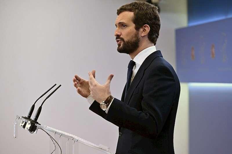 El líder del PP, Pablo Casado. EFE/Fernando Villar