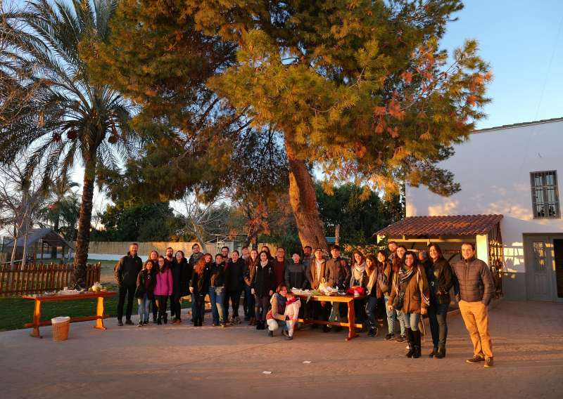 Los alumnos de Oxford en Alboraia. EPDA