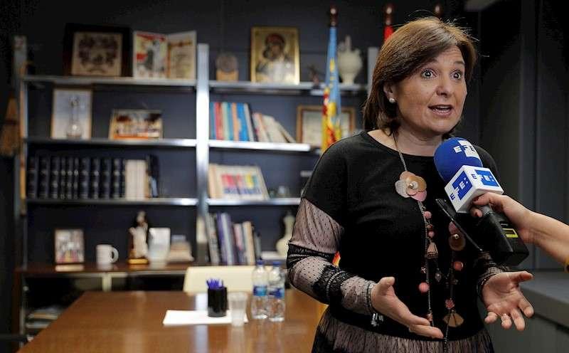 La presidenta del PPCV, Isabel Bonig, durante unas declaraciones a la Agencia EFE. EFE/Manuel Bruque