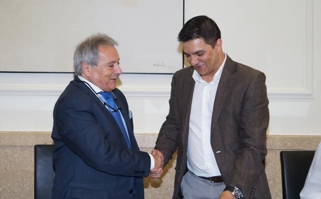 Rus y el alcalde de Foios. FOTO: DIVAL