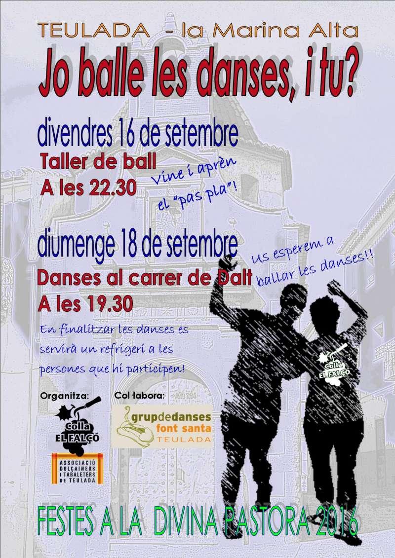 Cartel anunciador de les danses