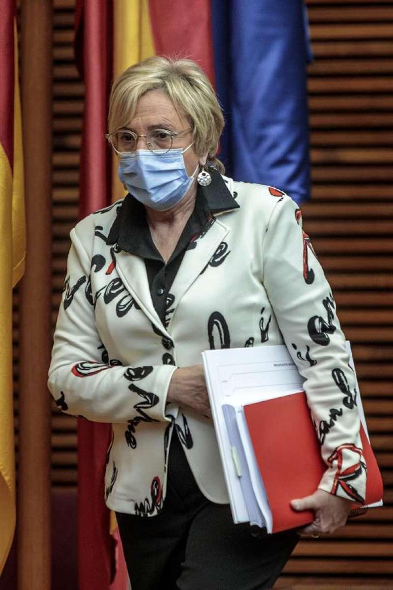 La consellera de Sanidad, Ana Barceló, explica en la Comisión de Economía de Les Corts los presupuestos de su departamento para 2021. EFE