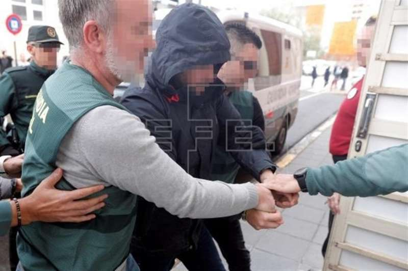 El sospechoso de la muerte de Marta Calvo, Jorge Ignacio P.J., de 38 años, a su llegada al Juzgado. EFE/Kai Försterling/Archivo