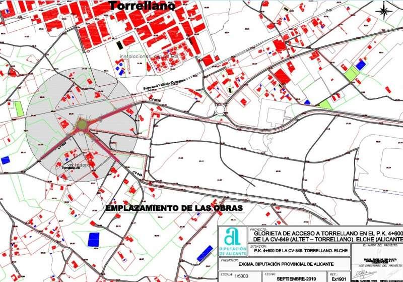 Plano rotonda Torrellano./ EPDA