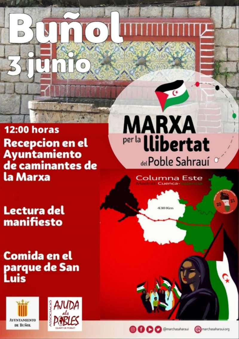 Cartel de la marcha por la libertad del pueblo saharui.