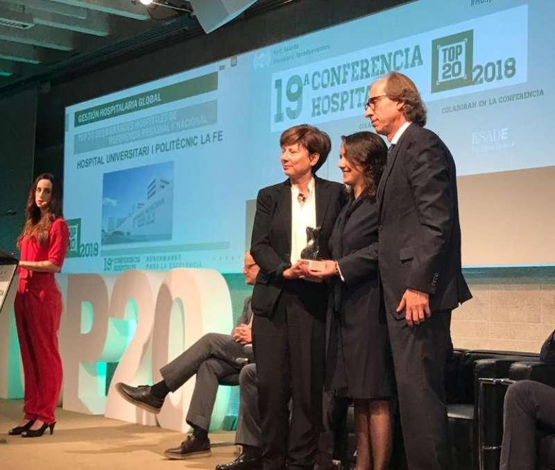 El Hospital La Fe y el Hospital Doctor Peset de Valencia reciben tres premios TOP 20. EPDA