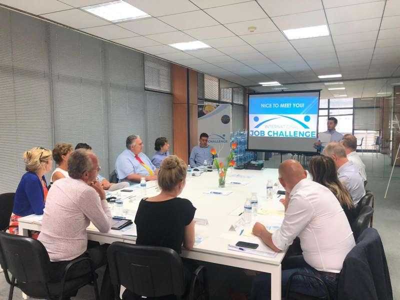 Encuentro entre International Job Challenge y empresas holandesas. EPDA
