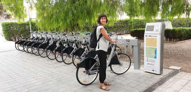 Estació de bicis a Meliana. EPDA
